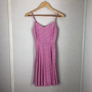 Old navy pink and white striped dress!